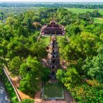 thien mu pagoda from above