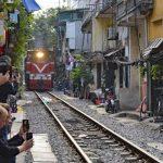 tran phu train street in hanoi