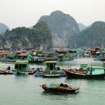 village of fishermen in halong bay