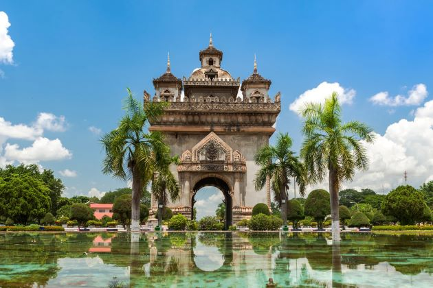 Patuxai Monument In Vientiane indochina travel packages