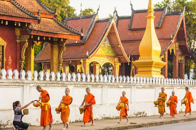 little monks in luang prabang indochina packages tours