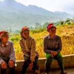 local people are taking a rest after work in northern vietnam
