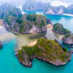 see halong bay from bird's view