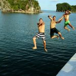 swimming in halong bay vietnam 3 week from north to south