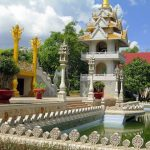 the architecture of buu long pagoda in saigon