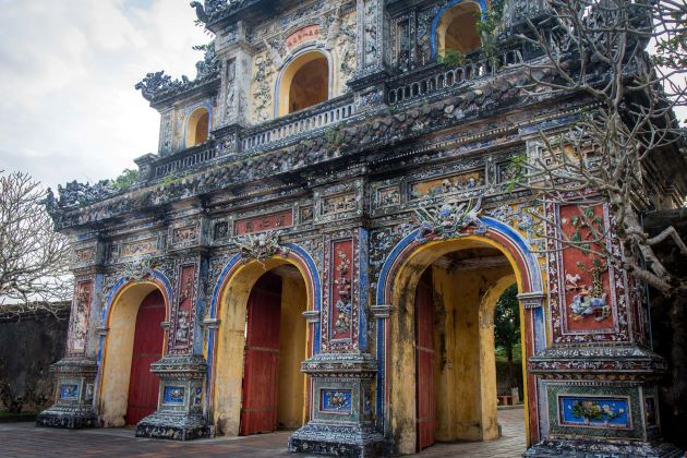 the stunning gate at hue imperial citadel