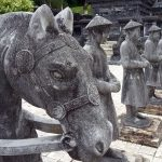 statues in Khai Dinh Tombs vietnam adventure tours