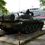 a tank display in the reunification palace