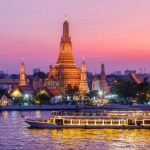 boat trip on Chao Phraya River of bangkok