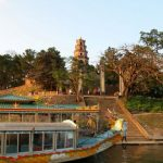 dragon boat trip on perfume river to thien mu pagoda