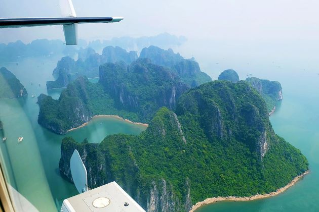 halong magic bay from bird view