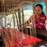 local weaving at Angkor Ban village