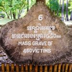mass grave in the kill field of phnom penh