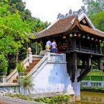 the iconic One Pillar Pagoda in hanoi