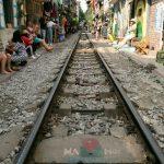 the interesting train street of hanoi