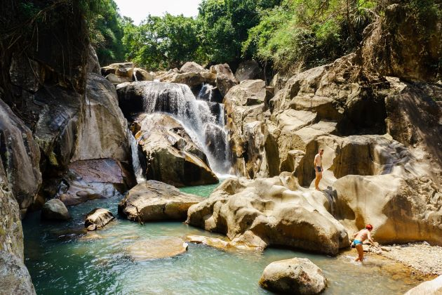 ba ho waterfall is the famous attraction beside nha trang islands