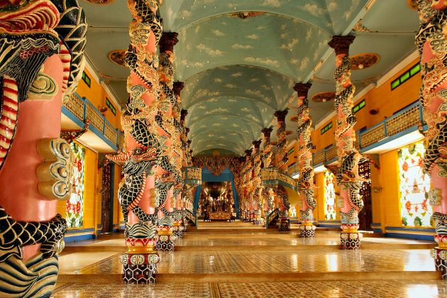 cao dai temple in tay ninh from saigon