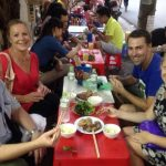 enjoy street food in hanoi