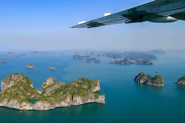 halong bay from bird view