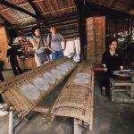 making rice paper in cu chi