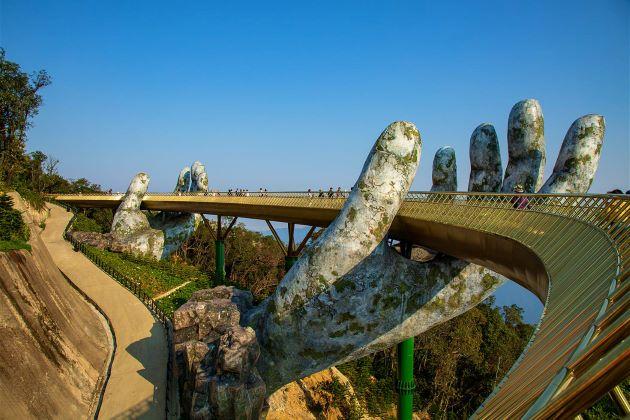 the golden bridge in danang luxury tours in vietnam