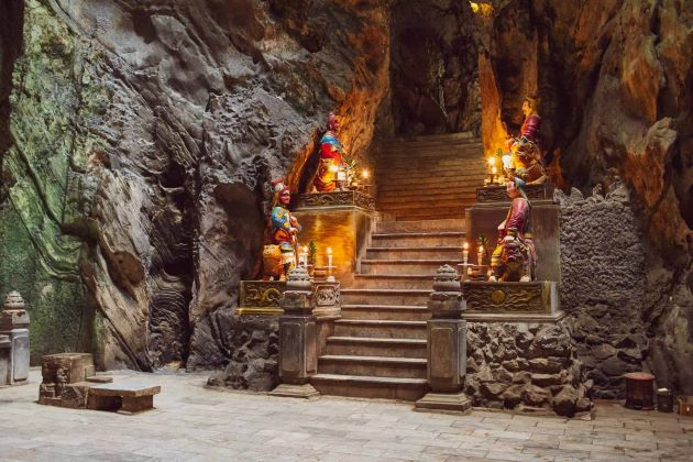 visit the sarced marble mountain in danang