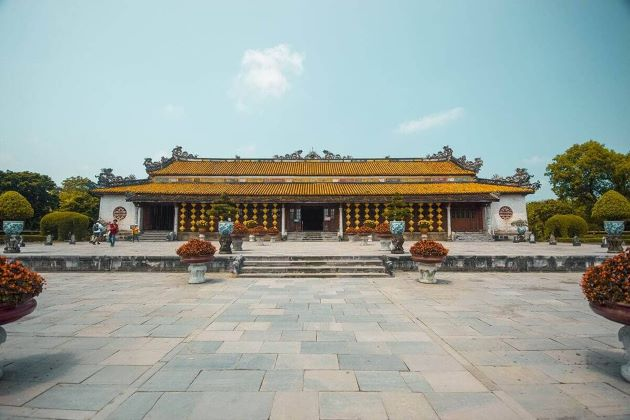 a palace inside hue imperial citadel