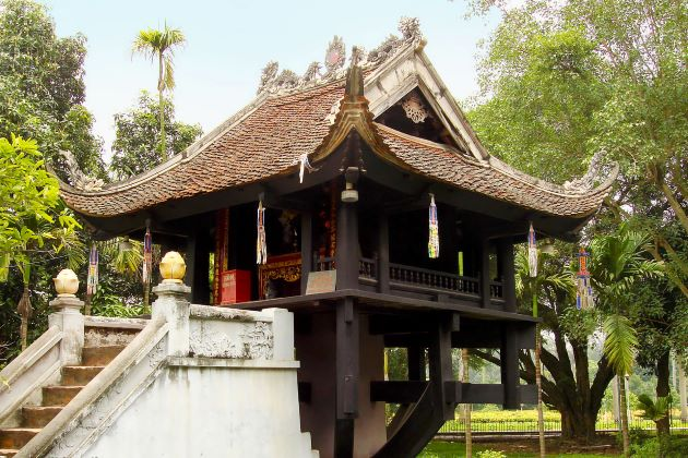 explore the iconic one pillar pagoda