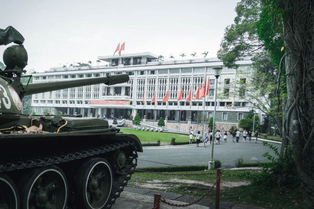 see the reunification palace in saigon vietnam