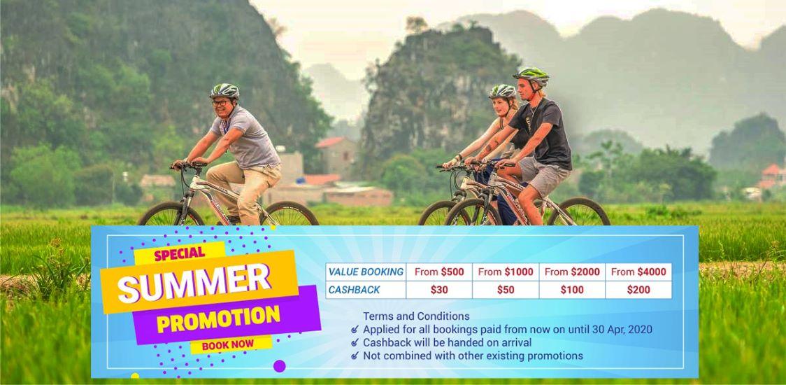 Ninh binh cycling vietnam tour packages