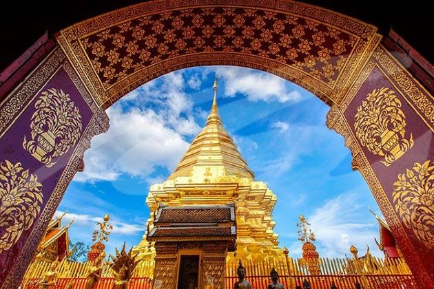 Doi Suthep Temple in chiang mai thailand