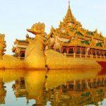 Karaweik Palace in yagoon myanmar