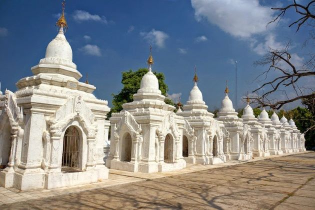Kuthodaw Pagoda in myanmar