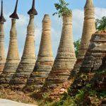 Shwe Indein Pagodas complex in myanmar