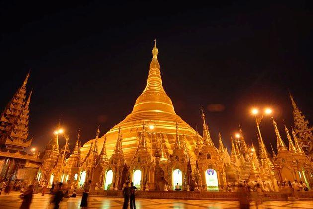 Shwedagon Pagoda in yangon myanmar