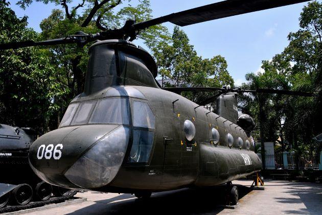 artifacts at war remnants museum in saigon