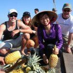enjoy fruit at cai be floating market
