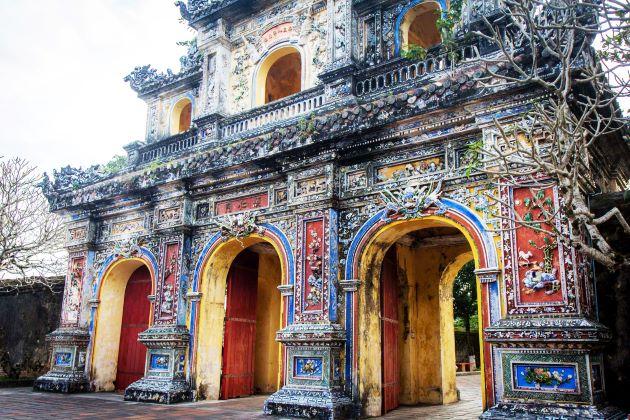 entrance gate in hue imperial citadel