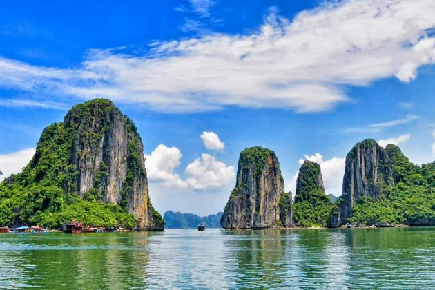 halong bay in quang ninh vietnam