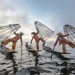 local fishermen in inle lake