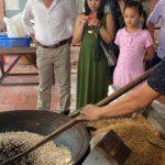 making popcorn in mekong delta
