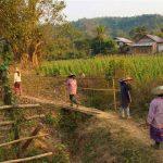 myanmar trekking to local village