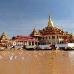 phaung daw oo pagoda in inle lake myanmar