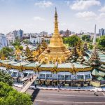 sule pagoda in yangoon myanmar