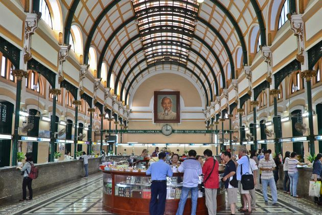 the central old post office in saigon