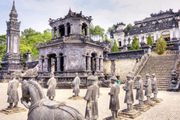 tomb of khai dinh king in hue