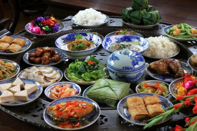 tet holiday food and desserts