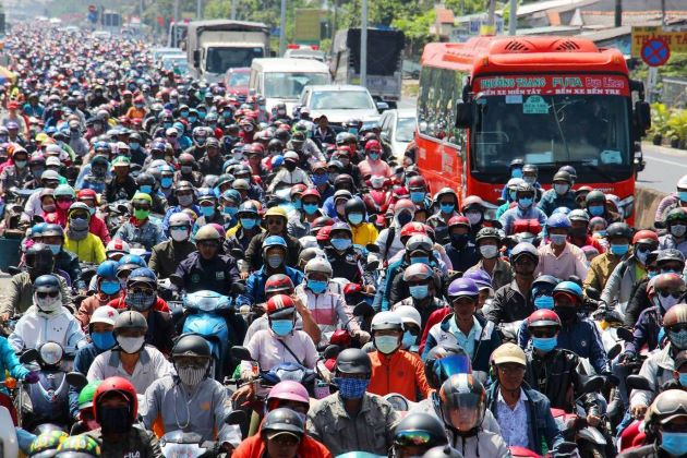 Traffic Jams in Ho Chi Minh City