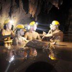 mud bath at dark cave